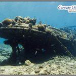 kleines Wrack Tugboat Curacao Divers Deutsche Tauchschule Tauchen Tauchurlaub Urlaub entspannen Unterwasser Non Limit Freiheit selbstständig Karibik