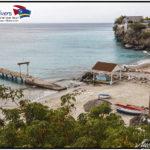 Playa Grandi, der SChildkröten Strand in Westpunt. Genauer Tauchplatzbeschreib mit einer Tauchplatzkarte im Tauchreiseführer
