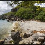 SChöner und einsamer Strand in San Juan mit dem Namen Playa San Mosa aus dem Tauchreiseführer von den Curacao-Divers